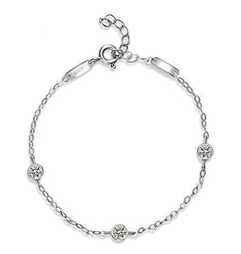 AMDXD 925 Silver Necklace Butterfly Shape Pendant Women Chain Blue Cubic Zirconia