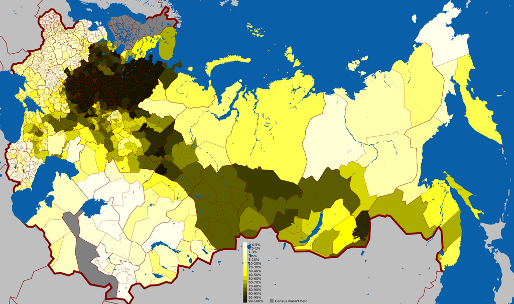 Russian Language In The Russian Empire MAPS Pinterest - Russian language map