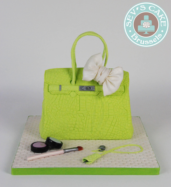 6419a8781c66 ... czech hermes birkin bag purse cake green gateau sac vert sevs cake  brussels 4b915 cb862
