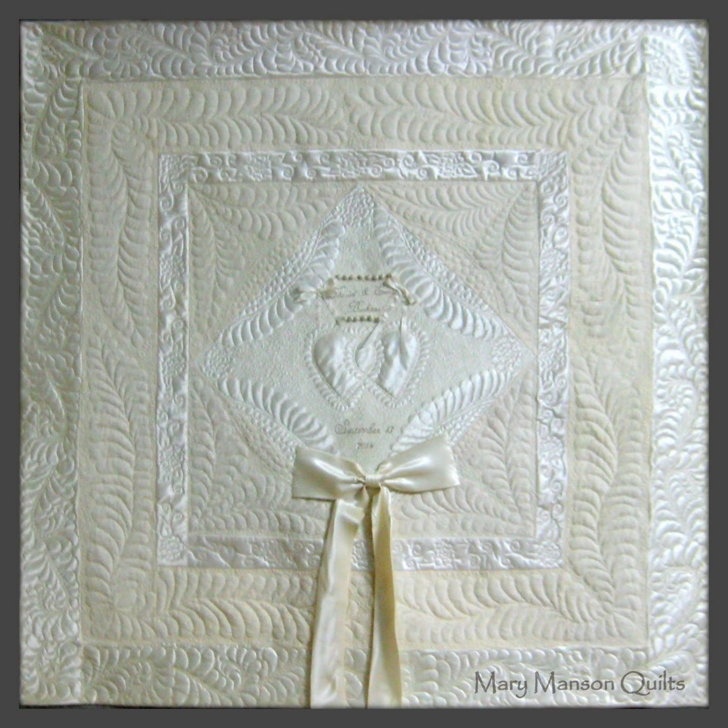 Wedding dress quilt custom made from your by marymansonquilts