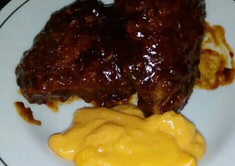 Resep Ayam Ala Richeese Ayam Bbq Pedas Dengan Saus Keju Oleh Luluk Zakiah Resep Resep Ayam Resep Resep Makanan