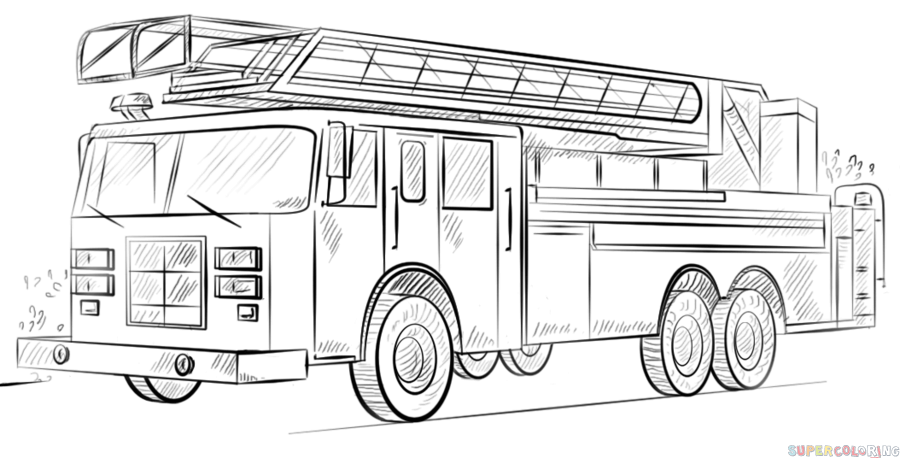 Pin By Chris Kolb On Production Design Truck Coloring Pages Fire Truck Drawing Fire Trucks