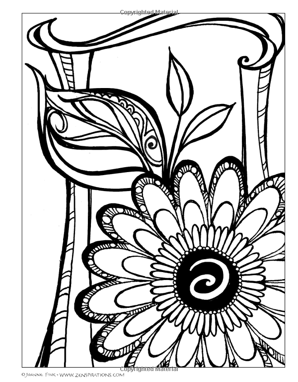 Zenspirations Tm Coloring Book Flowers Create Color Pattern Play Joanne Fink 9781574218695 Amazon Com B Book Flowers Coloring Books Colorful Drawings