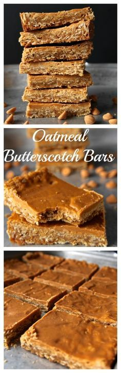 Oatmeal Butterscotch Bars- these bars combine brown butter, melted butterscotch chips, and chewy oatmeal for the ultimate bar. Absolutely delicious!