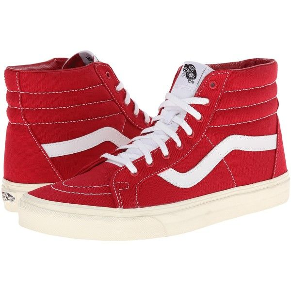 Vans SK8-Hi Reissue Tango Red Marshmallow) Skate Shoes 91bb4fa53a