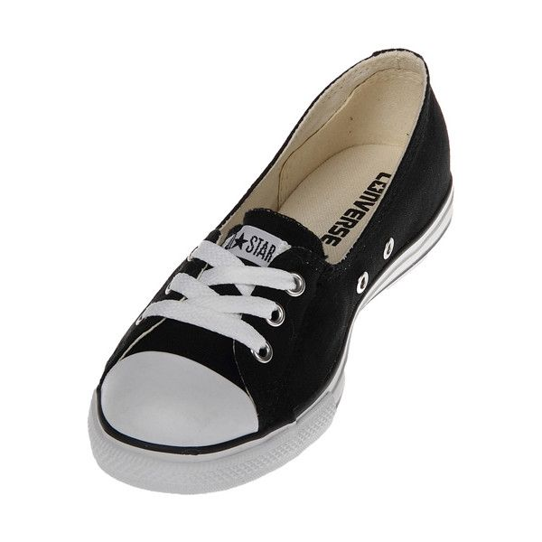 f2eaf0b5aa36 Converse Chuck Taylor 522253 CT Dance Lace White Low Top Shoes via Polyvore