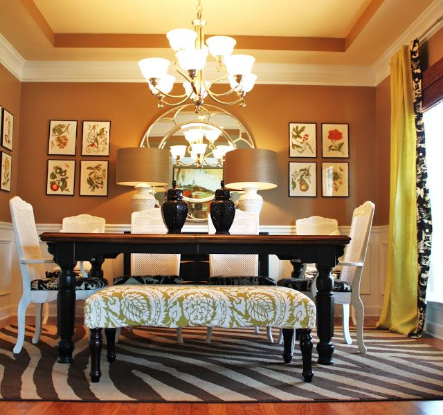 Reassigning Rooms My New Home Office Emily A Clark Eclectic Dining Room Dining Room Bench Dining Room Design
