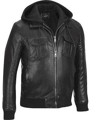 5c90d8cc2 Black Rivet Mens Big & Tall Faux-Leather Bomber Jacket W/ Removeable ...