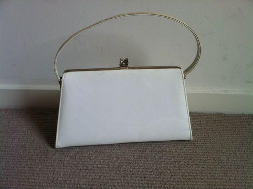 White 60s Vintage Handbag | eBay