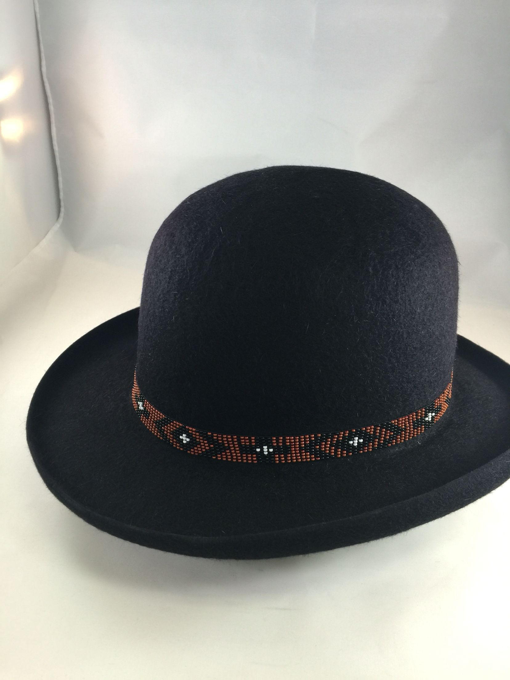 Pure Roughy Cowboy Bowler full pencil roll and beaded hat band!   Customiscool  GreeleyHatWorks 9191d1369ae
