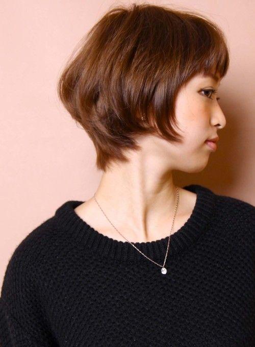 ☆大人のシルエット美人ひし形ショートボブ(髪型ショートヘア