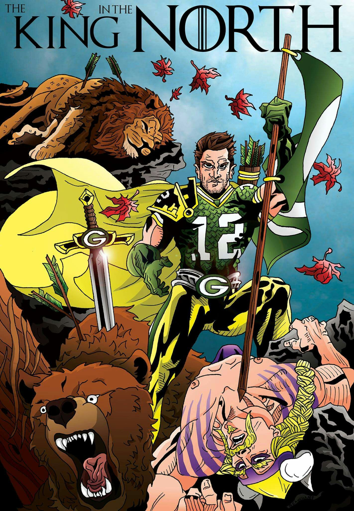 King Of The North Green Bay Packers Wallpaper Green Bay Packers Funny Green Bay Packers Football