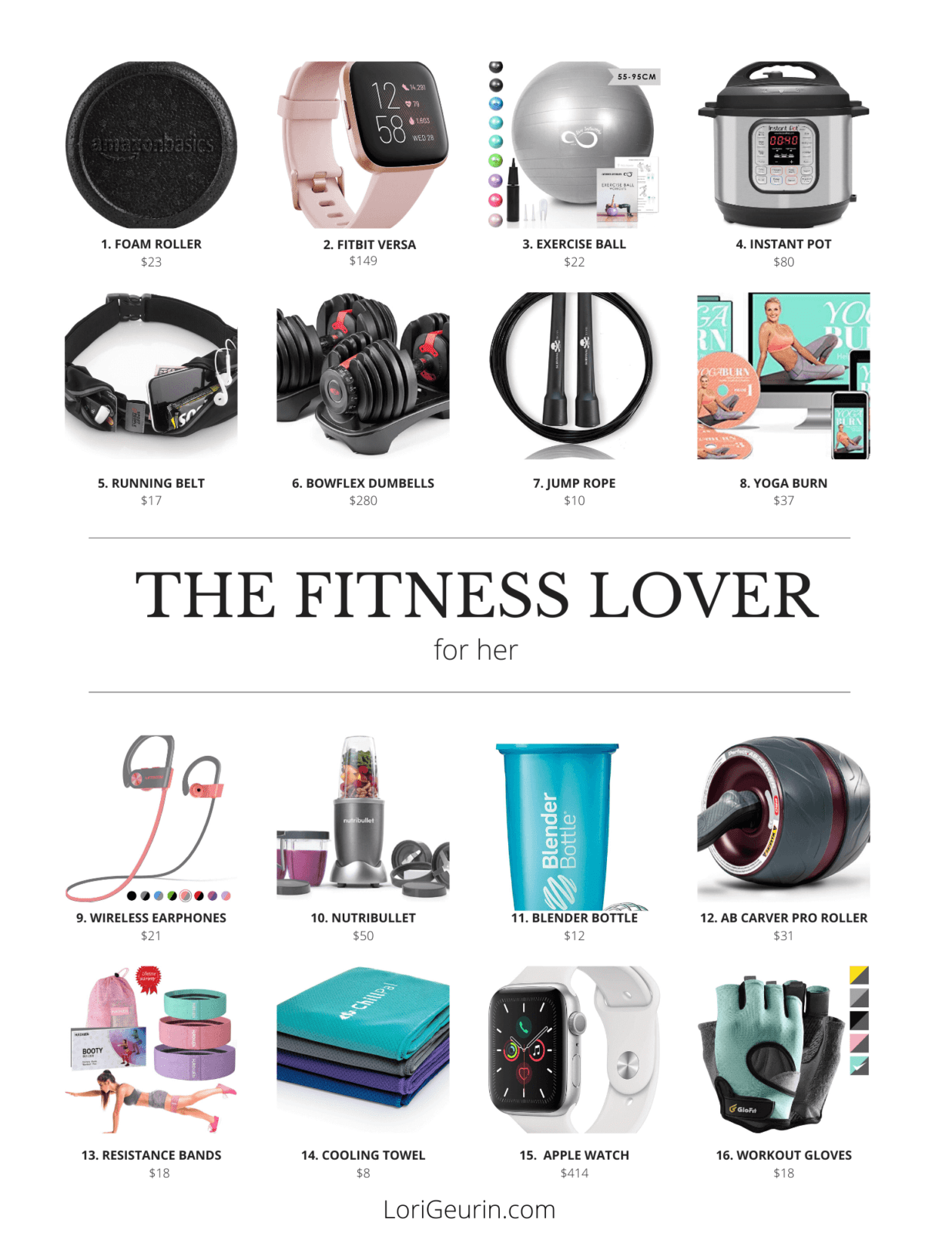 This article gives you 16 best fitness gifts for her. Check out this fitness gift guide for every fe...