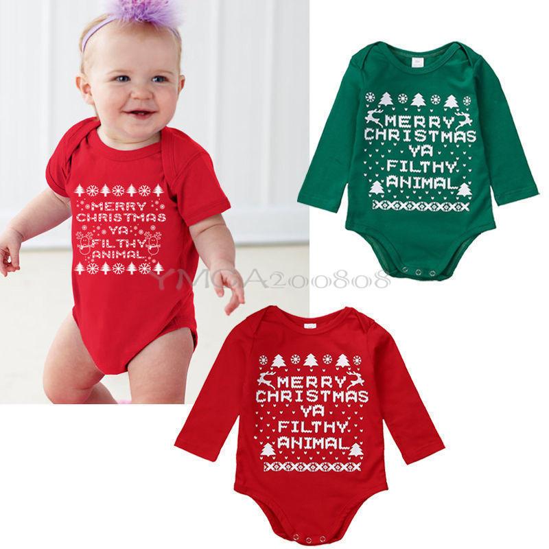 07ddc388c 5.79AUD - Christmasborn Baby Boy Girls Romper Bodysuit Jumpsuit ...