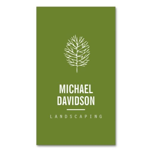 Organic tree sketch on landscaping business card tree sketches organic tree sketch landscaping business card template personalize the front and back with your own wajeb Choice Image