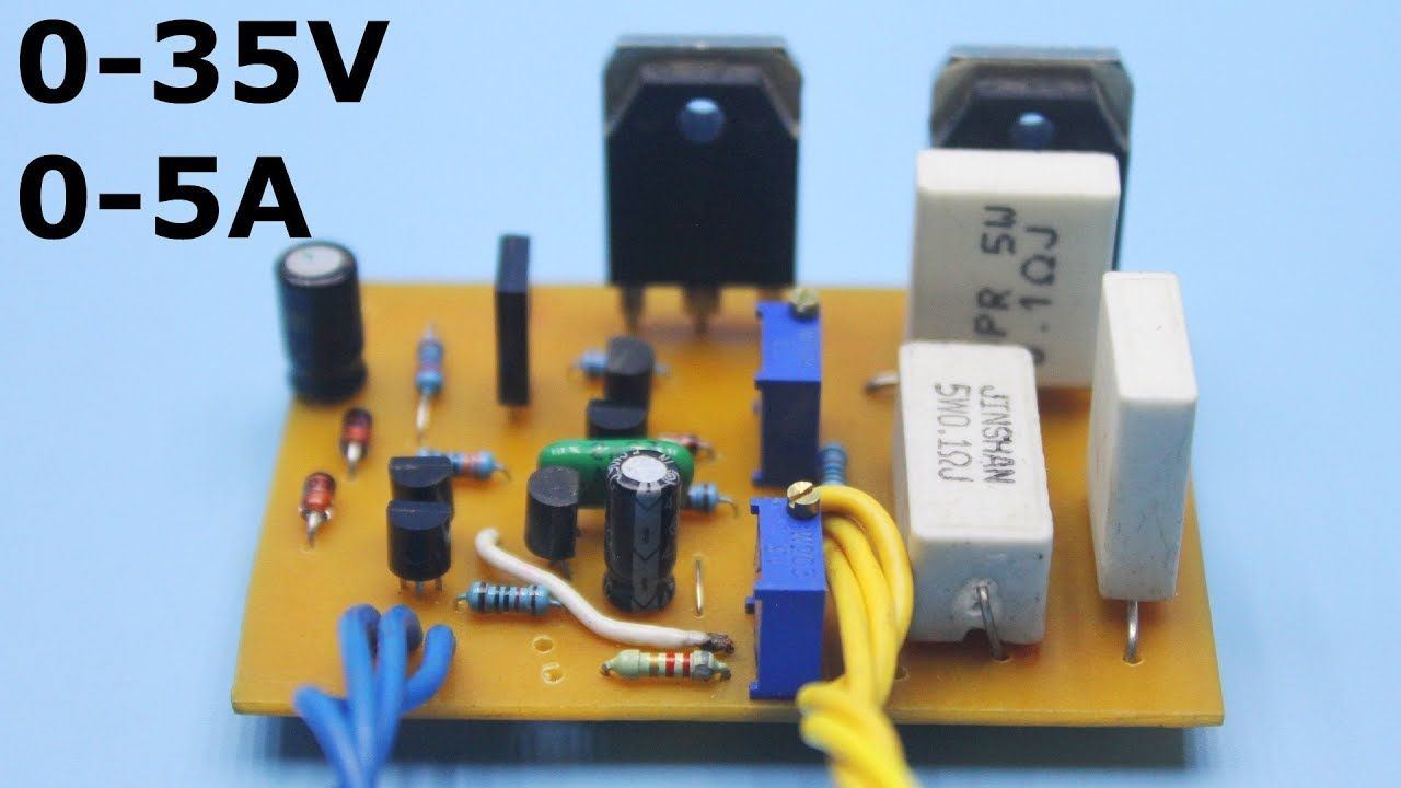 Adjustable Power Supply 0 35v 0 5a In 2020 Power Supply Circuit Electronic Circuit Design Switched Mode Power Supply