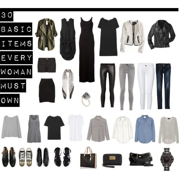"""""""30 Basic Items Every Woman Must Own"""" by designismymuse on ..."""