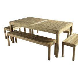Salon de jardin table & banc Hanoï | terrasse | Pinterest ...