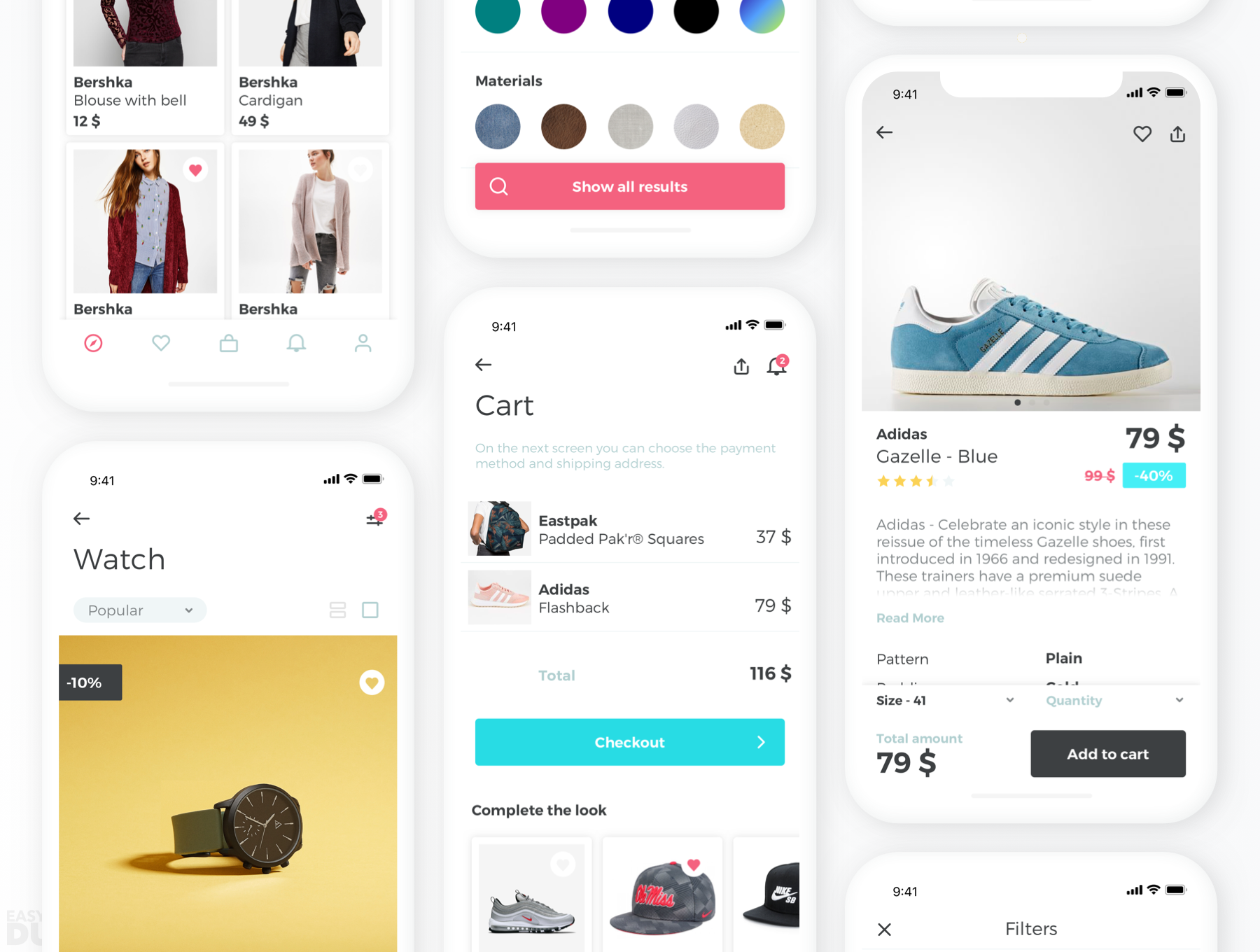 BEZO Shop UI Kit Sketch iOS UI Kit | UI Kits | Ui kit, Online
