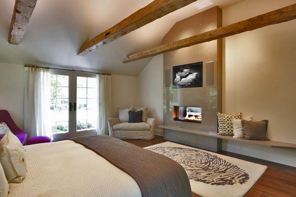 Diseño+de+Dormitorios+con+Chimenea+4jpg (600×400) estufas y