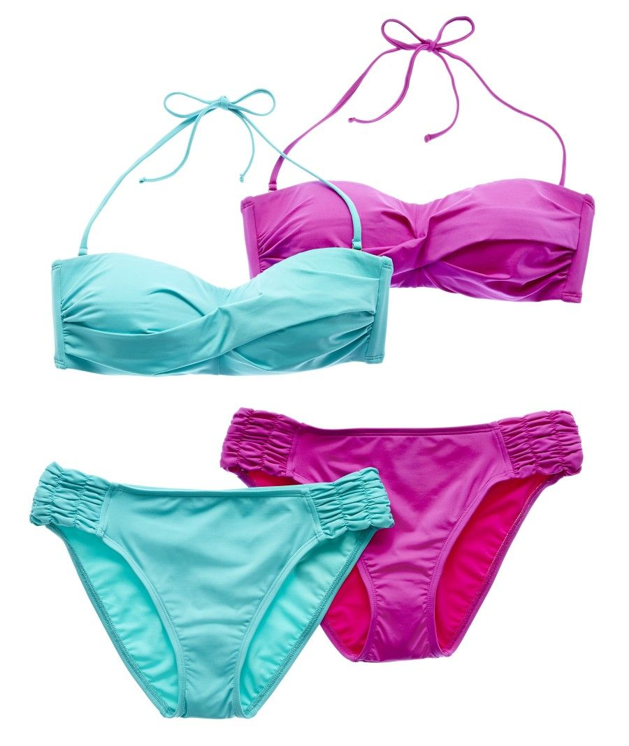 b0ff319a7e04a Women's Swimsuits | Bikinis and Bathing Suits | JCPenney. solid twist  bandeau swim top w/ side-tab hipster bottoms ...