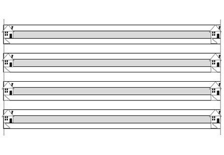 Eine Blankovorlage Mit Lineatur Fur Klasse 1 Mit Mittelband Und Schreiblernhauschen Links Und R Erste Klasse Lineatur Klasse 1 Arbeitsblatter Fur Die Vorschule