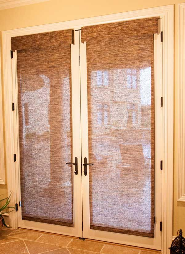 Roller Shades For French Doors Window Shades Pinterest Door