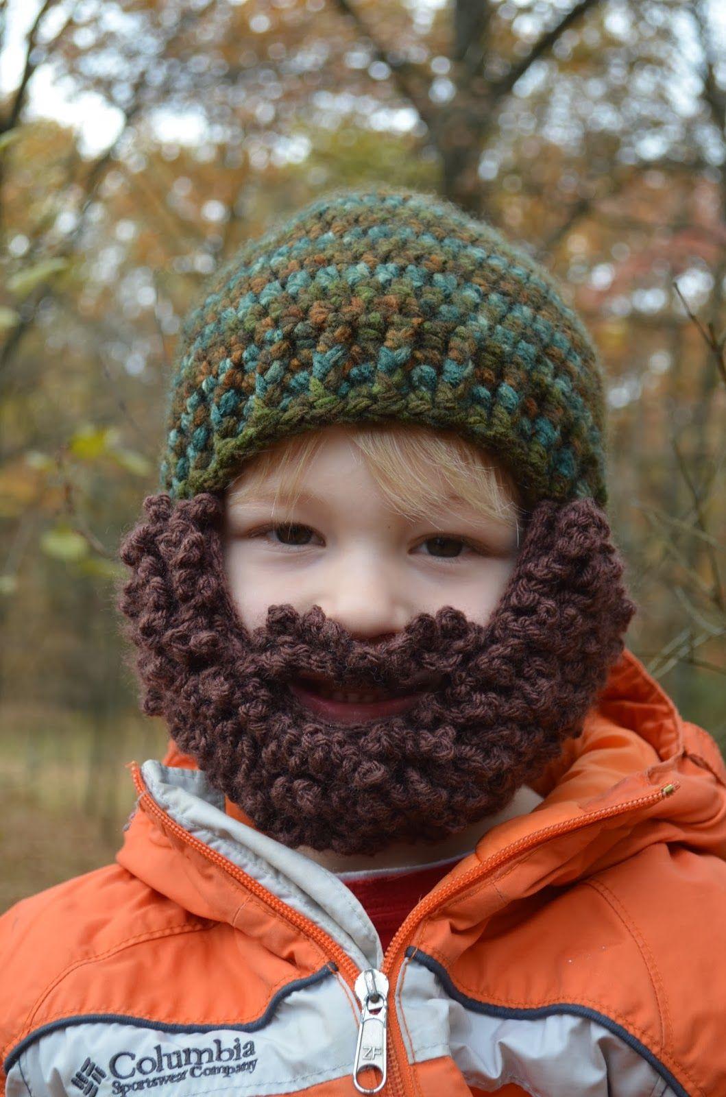 Kids beard beanie pattern | Crochet beard hat free pattern ...