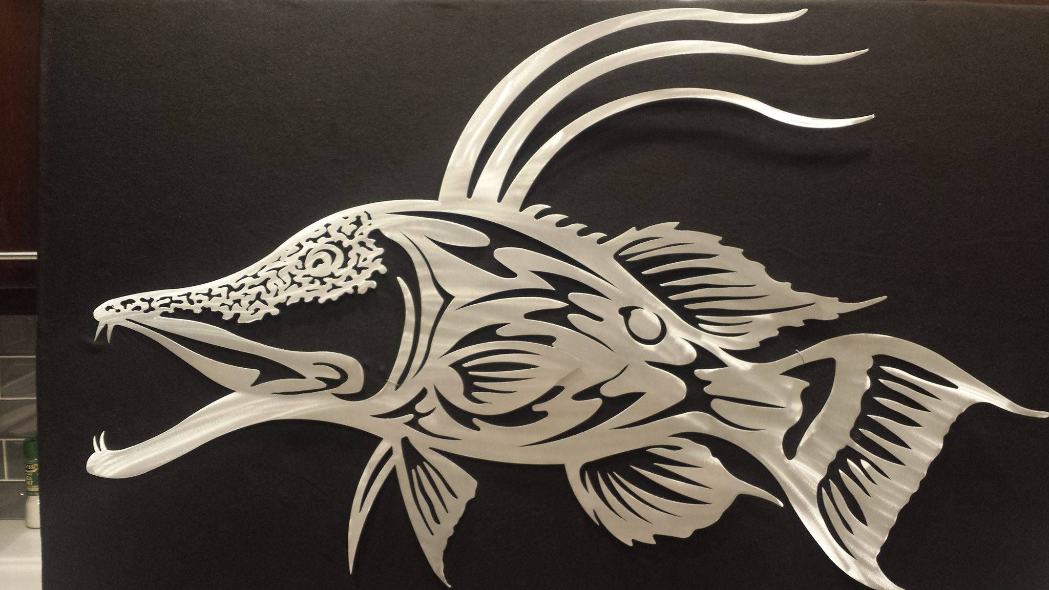 metal fish wall art etsy