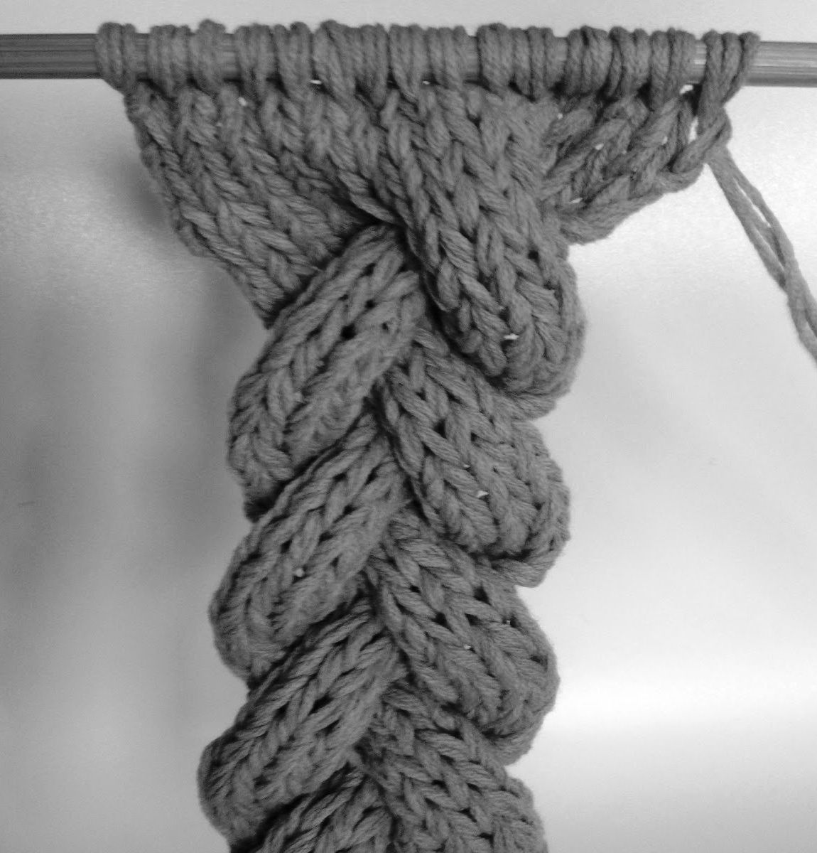3-Strand Cable Braid ---- #technique   שתי מסרגות   Pinterest ...