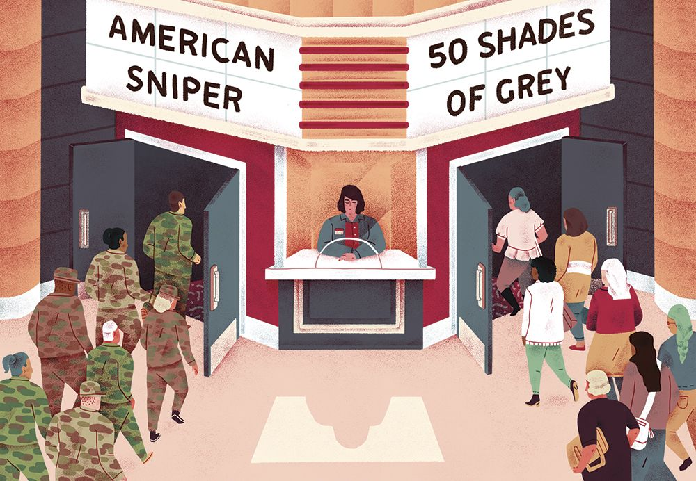 Box Office Trends for Variety Magazine Illustration by Jeannie Phan