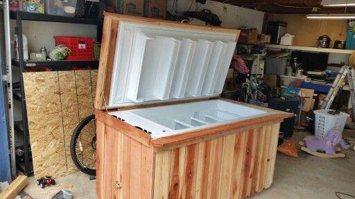 Repurpose Broken Freezer Into An Ice Chest Chest Freezer