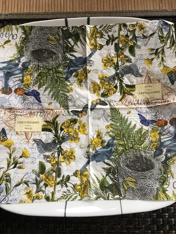 Paper Napkin for Decoupage - Into The Woods- Paper Crafts - Scrapbooking Napkin - Decorative Napkin