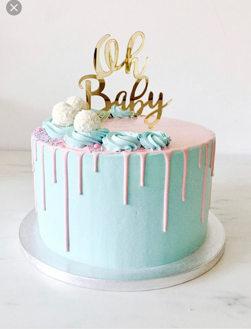 Pin By Dee Ddd2p On Cake Decor Ideas Baby Reveal Cakes Gender