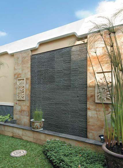Desain Dinding Taman Batu Alam