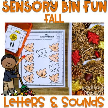 Fall Sensory Bins – Letters and Sounds