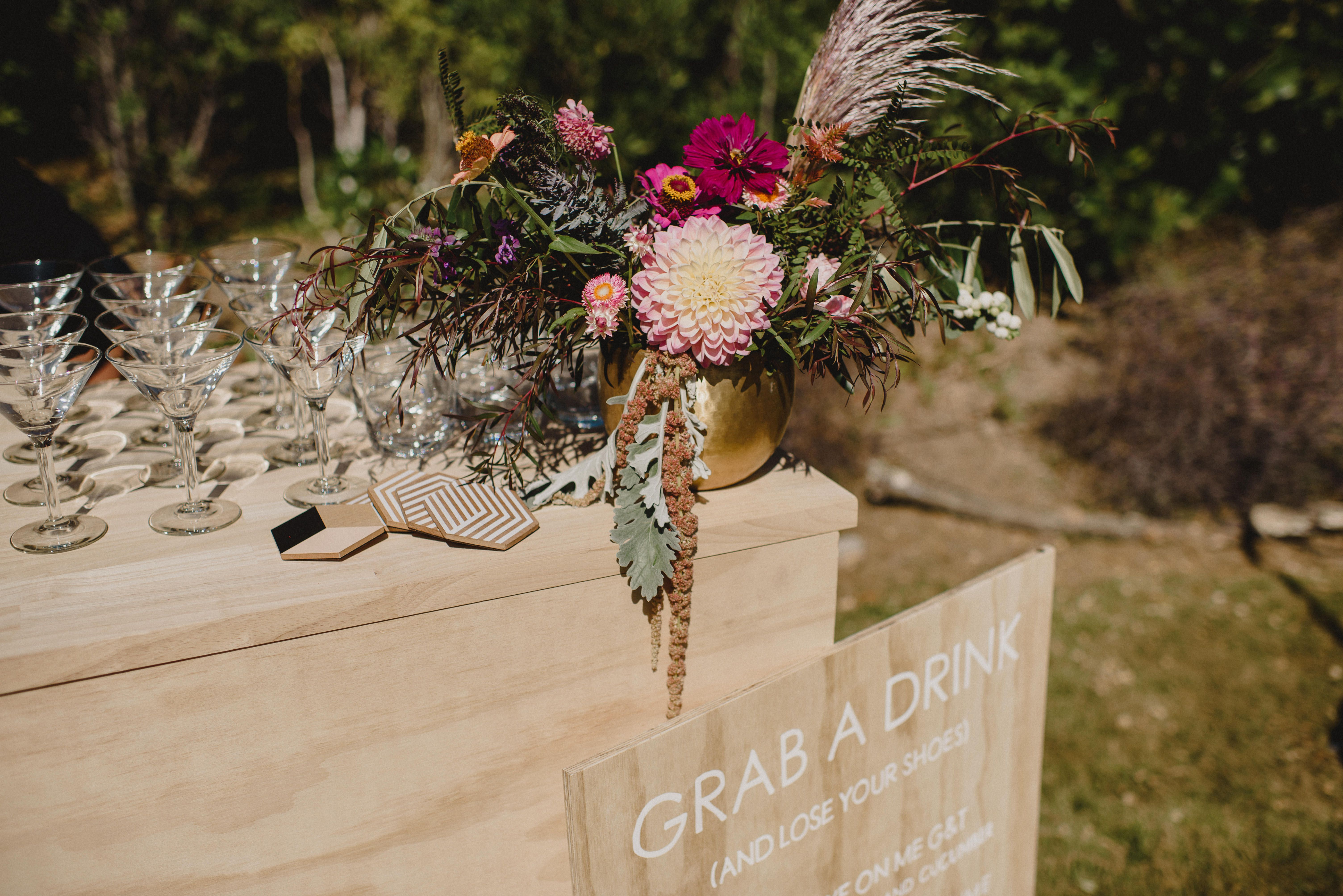 Custom wedding Bar & Signage