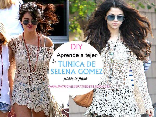 Cómo tejer la túnica de Selena Gomez a crochet | Tunica ganchillo ...