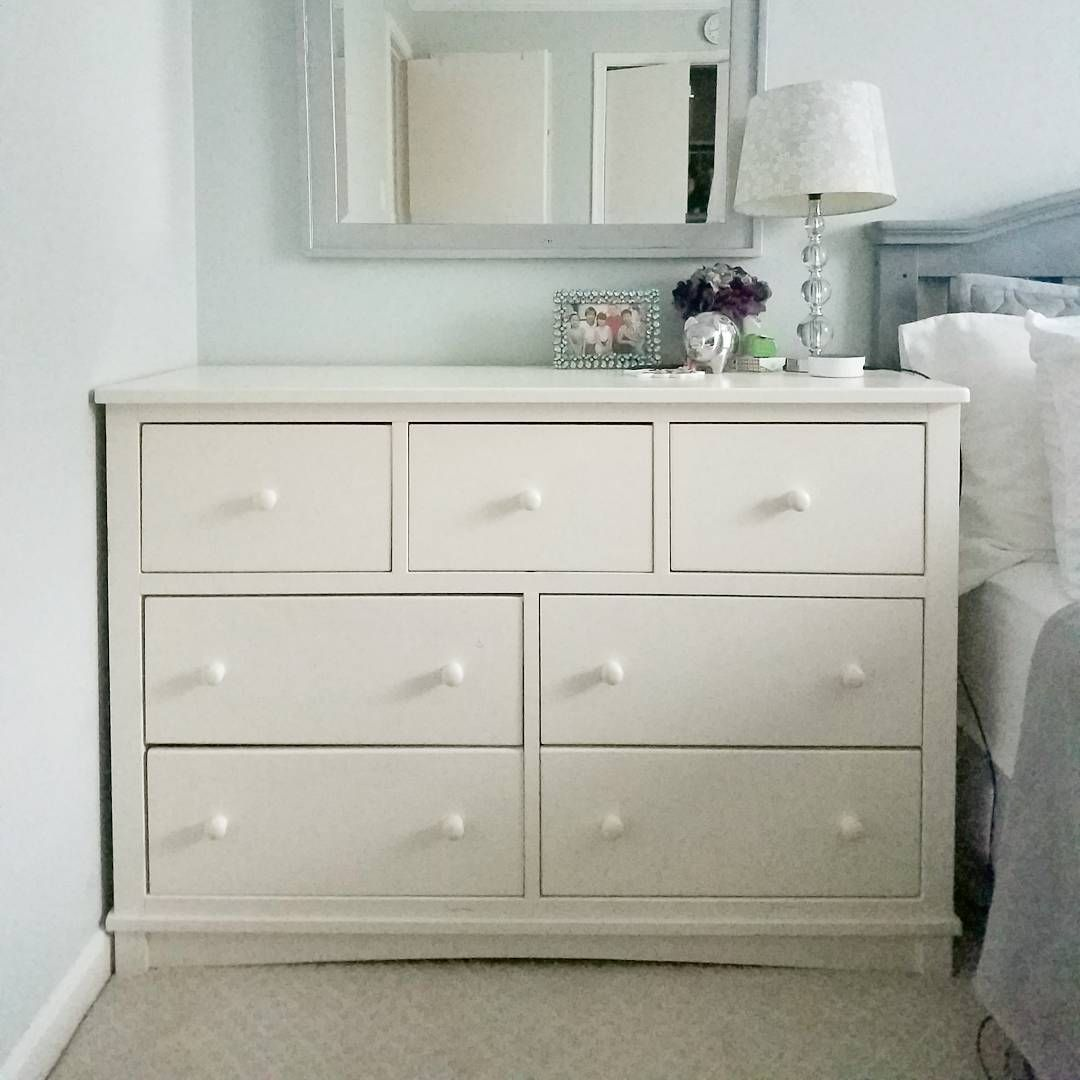 Dresser makeover using fusion mineral paint and vintage library