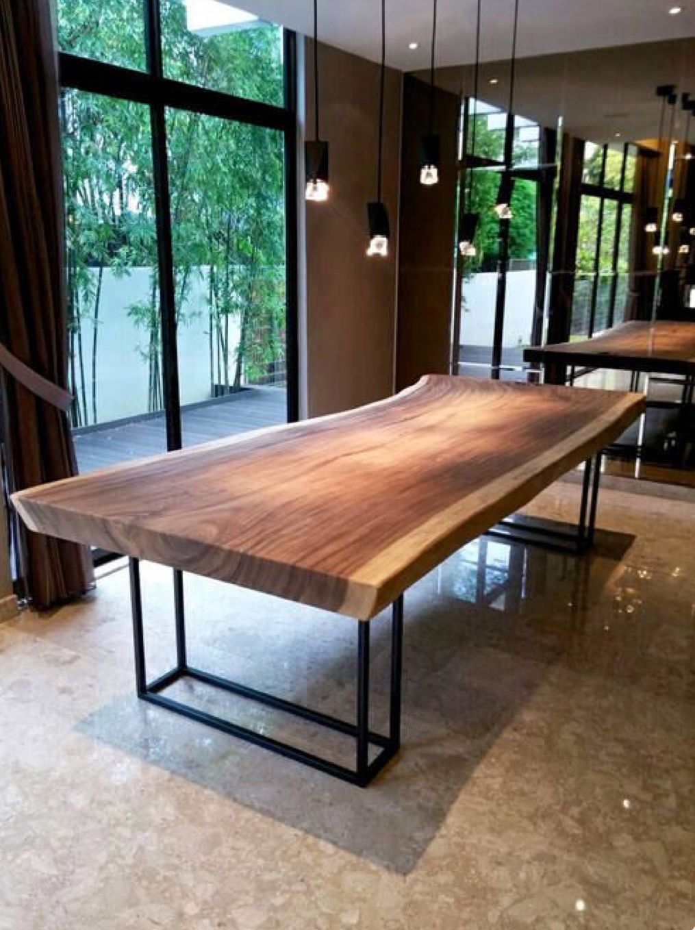 Pin By Caroline Richards On Making A Home Soon With Images Slab Dining Tables Wooden Dining Tables Live Edge Dining Table