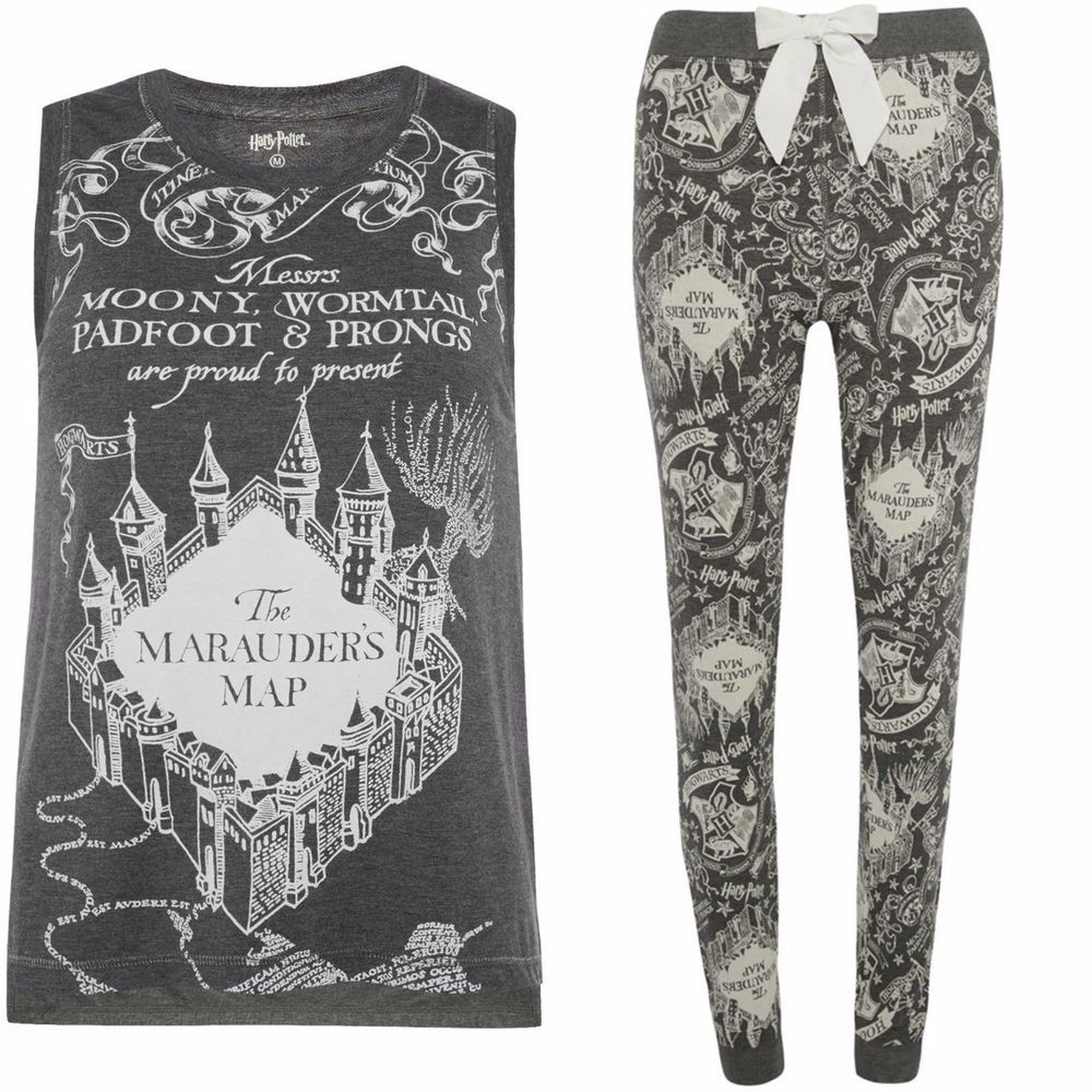 Primark Harry Potter Hogwarts Ladies cropped t shirt tee tie Top official  S-XL