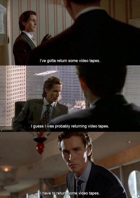 American Psycho Quotes Prepossessing American Psycho Christian Bale Quote  American Psycho  Pinterest . Inspiration Design