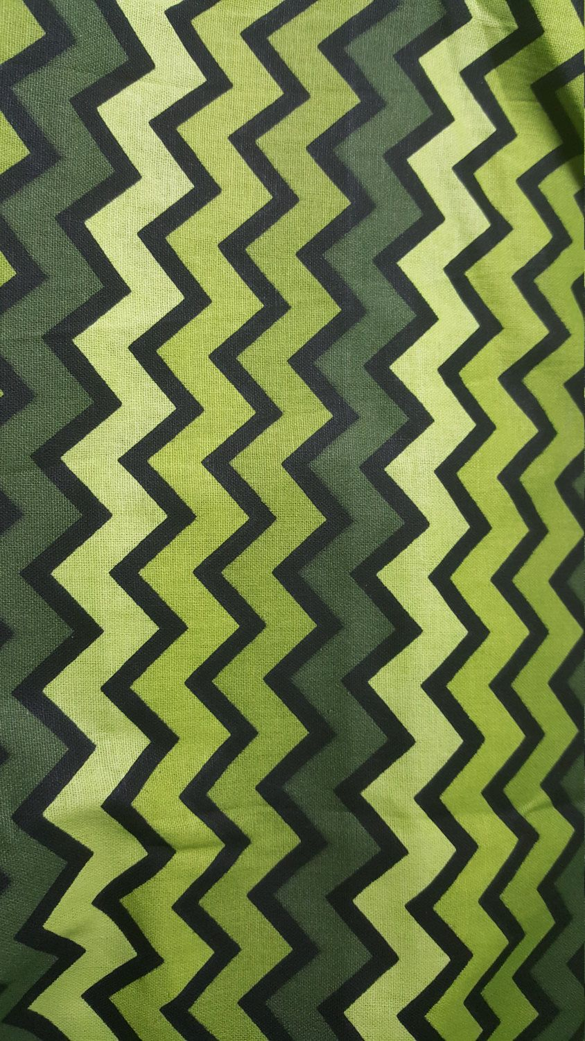 Multi-shade Lime Green, Black and Grey Chevron Jessica Odom Fabric ...