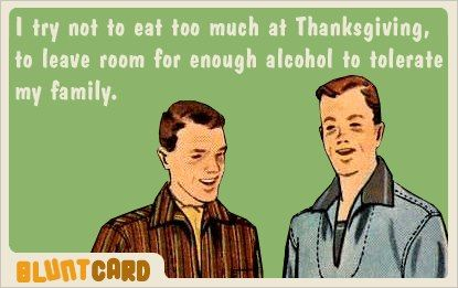 ha... Easier to just start with the alcohol and leave some room for food