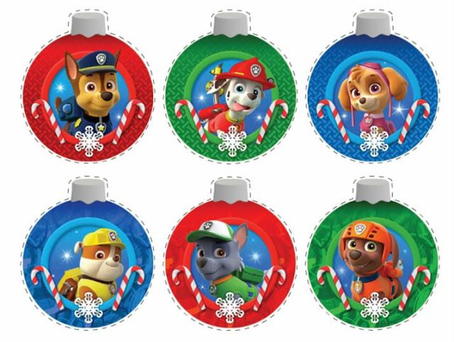 Paw Patrol Christmas Ormament Dated 2020 Paw Patrol Free Printable Christmas Ornaments. | Paw patrol