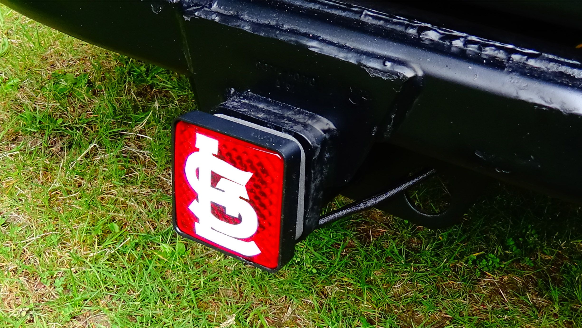 Lighted Trailer Hitch Cover For Our Cardinals Light