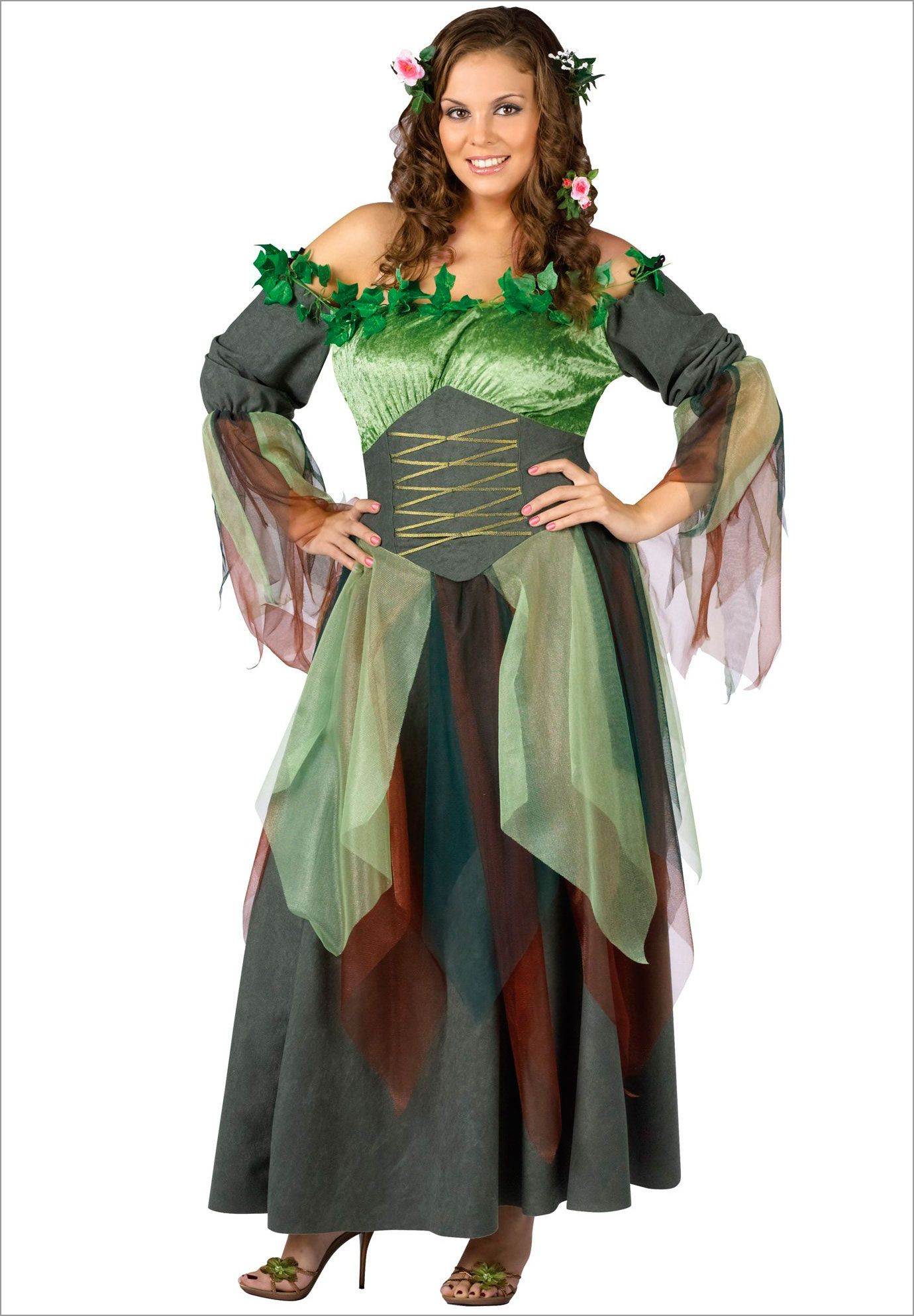 Mother Nature Adult Plus Costume | Plus Size Women's costumes | OneStopPlus