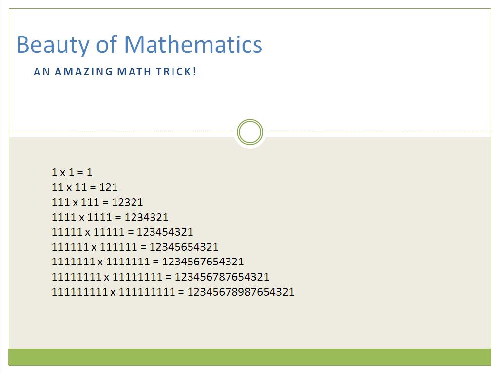 Beauty Of Mathematics Try This Amazing Maths Trick