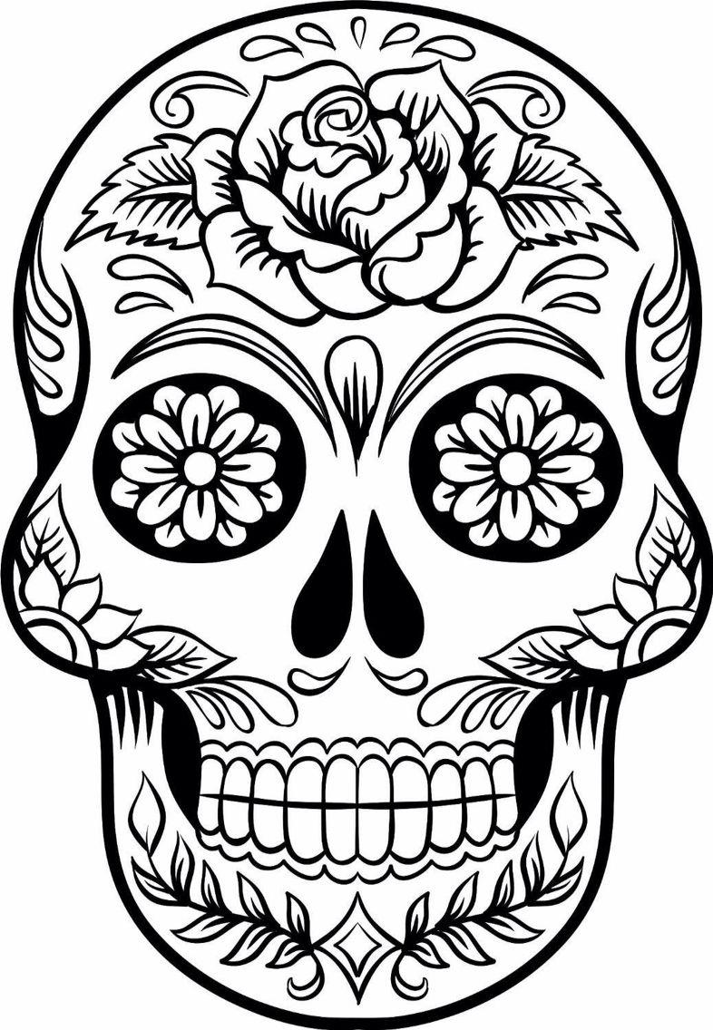 Coloring pictures skulls - Sugar Skull 1