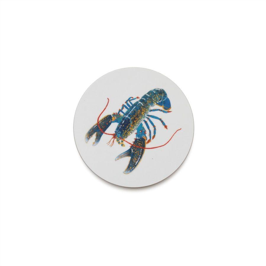 Jersey Pottery Seaflower Blue Lobster Coaster #JerseyPottery #shellfish #marine